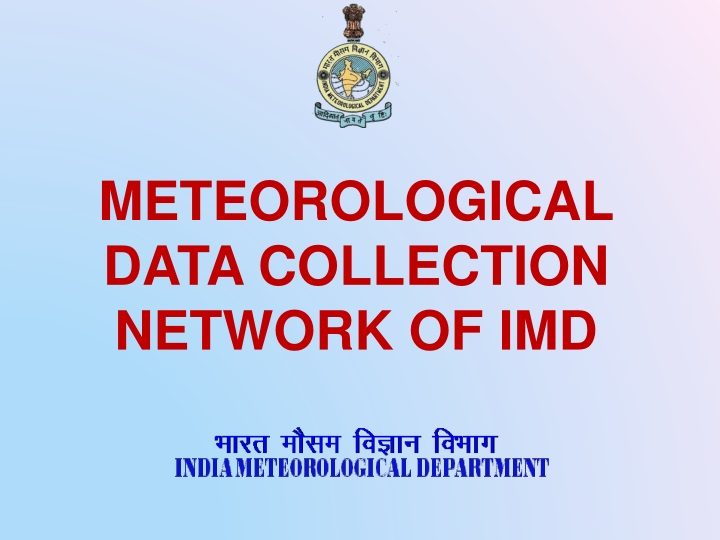 meteorological data collection network of imd n.