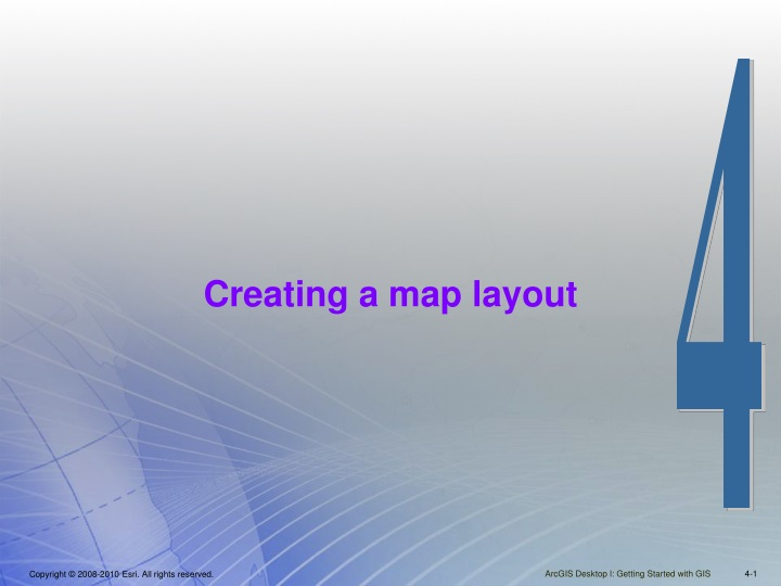 creating a map layout n.
