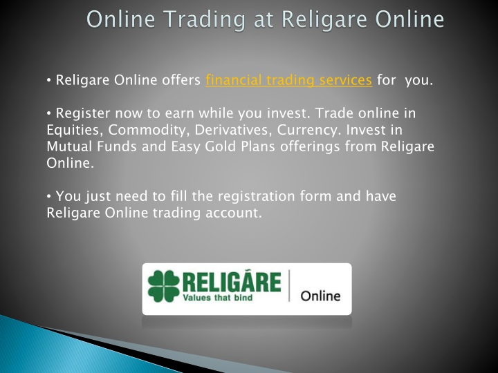 online trading at religare online n.