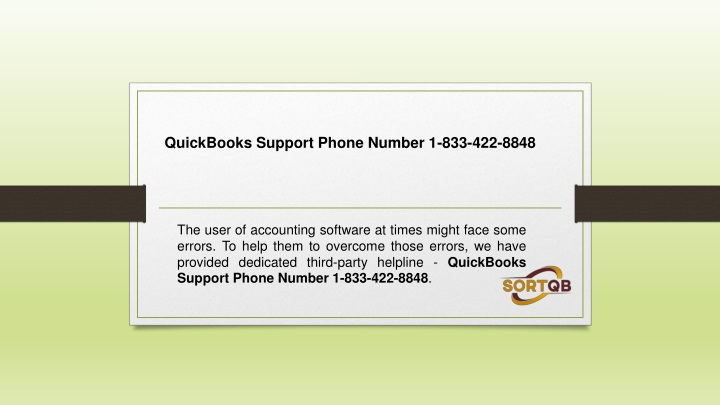 quickbooks support phone number 1 833 422 8848 n.