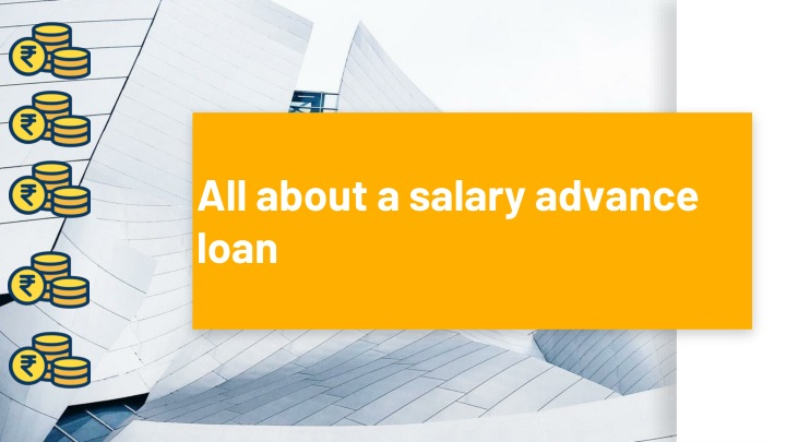 all about a salary advance loan n.