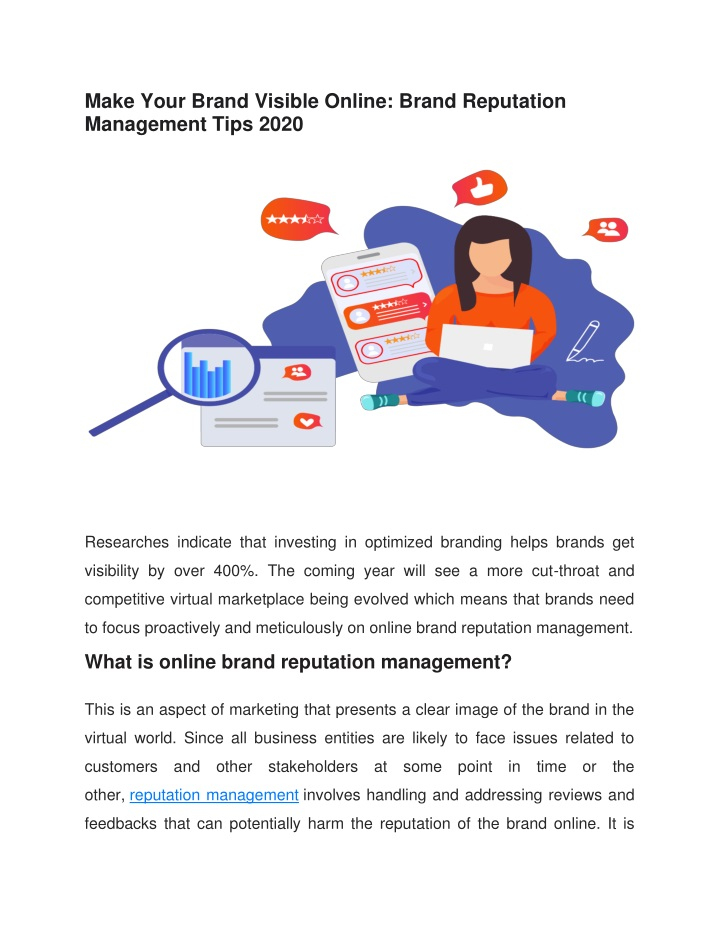 make your brand visible online brand reputation n.