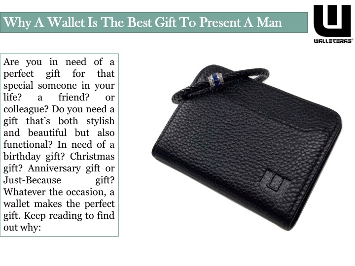 why a wallet is the best gift to present a man n.
