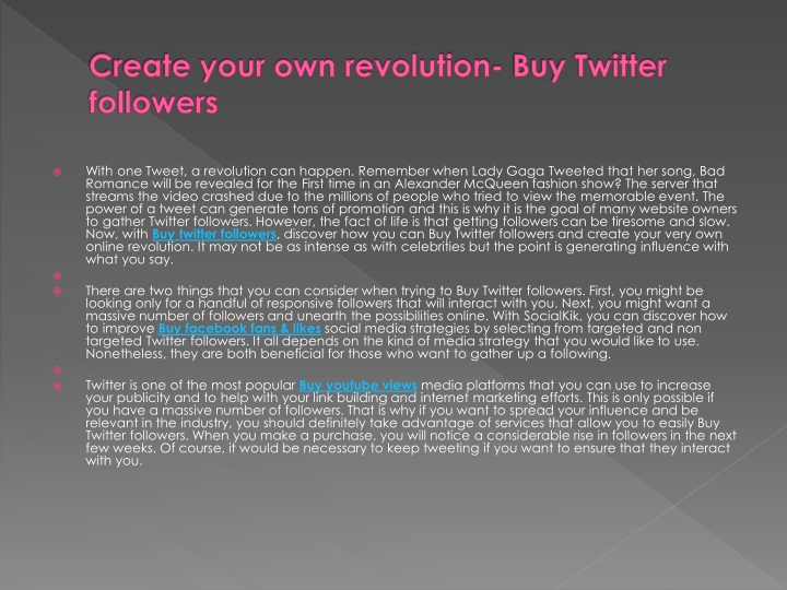 create your own revolution buy twitter followers n.