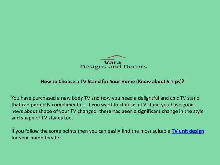 how to choose a tv stand for your home know about n.