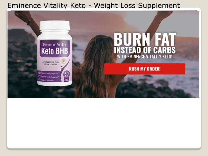 eminence vitality keto weight loss supplement n.