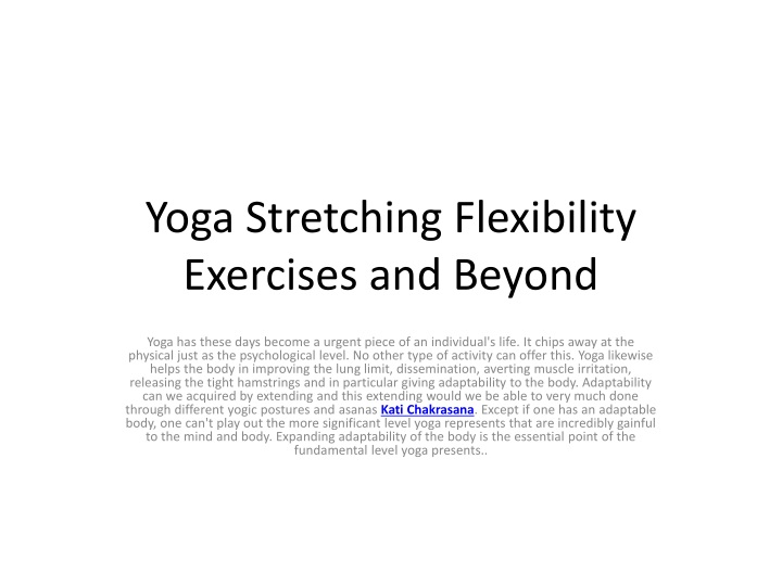 yoga stretching flexibility exercises and beyond n.