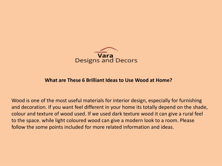 what are these 6 brilliant ideas to use wood n.