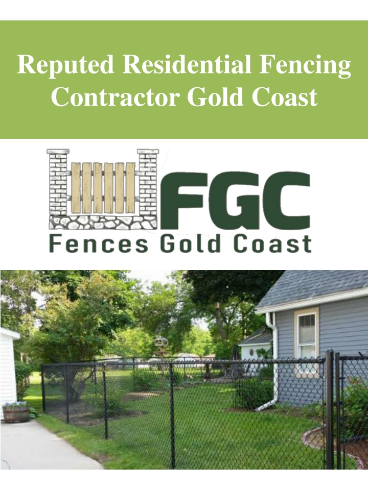reputed residential fencing contractor gold coast n.