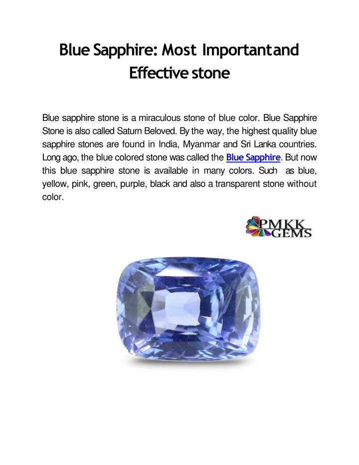 blue sapphire most important and effective stone n.