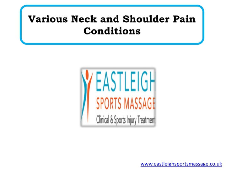 various neck and shoulder pain conditions n.