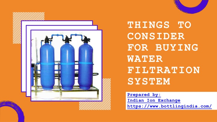 things to consider for buying water n.
