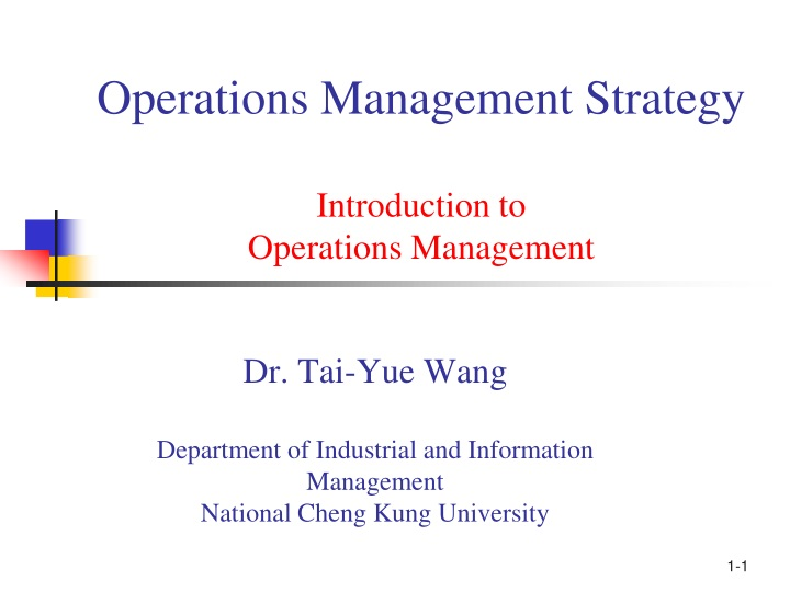 operations management strategy introduction to operations management n.