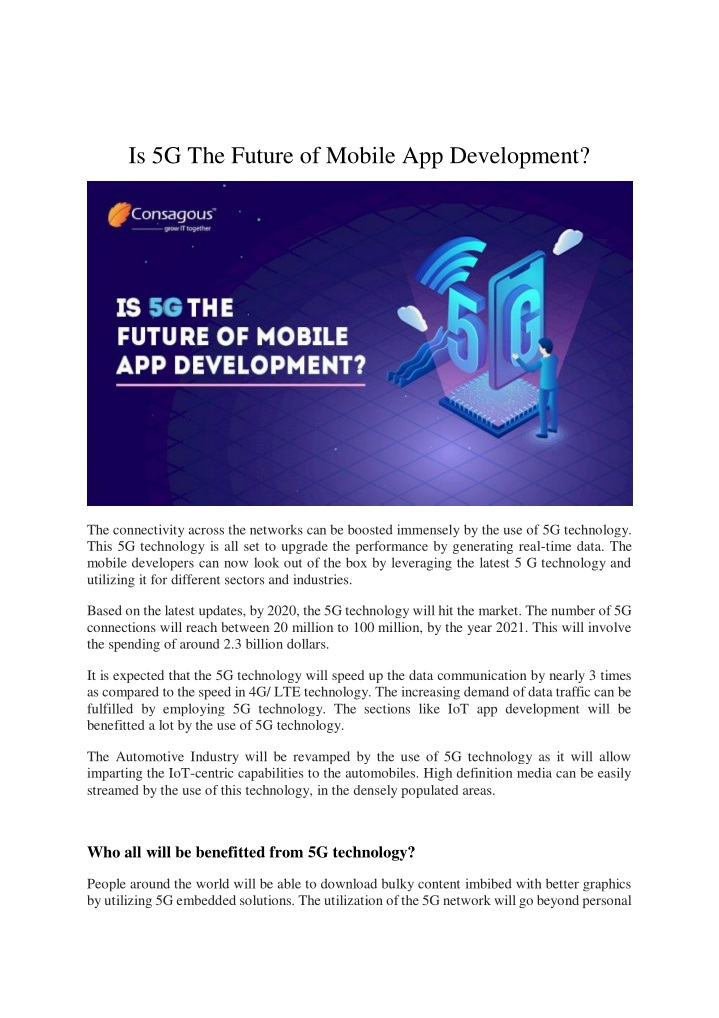 is 5g the future of mobile app development n.