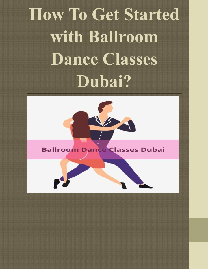 how to get started with ballroom dance classes n.