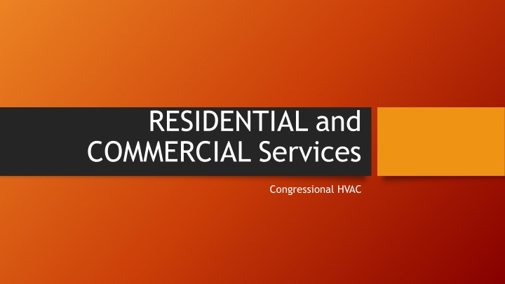 residential and commercial services n.