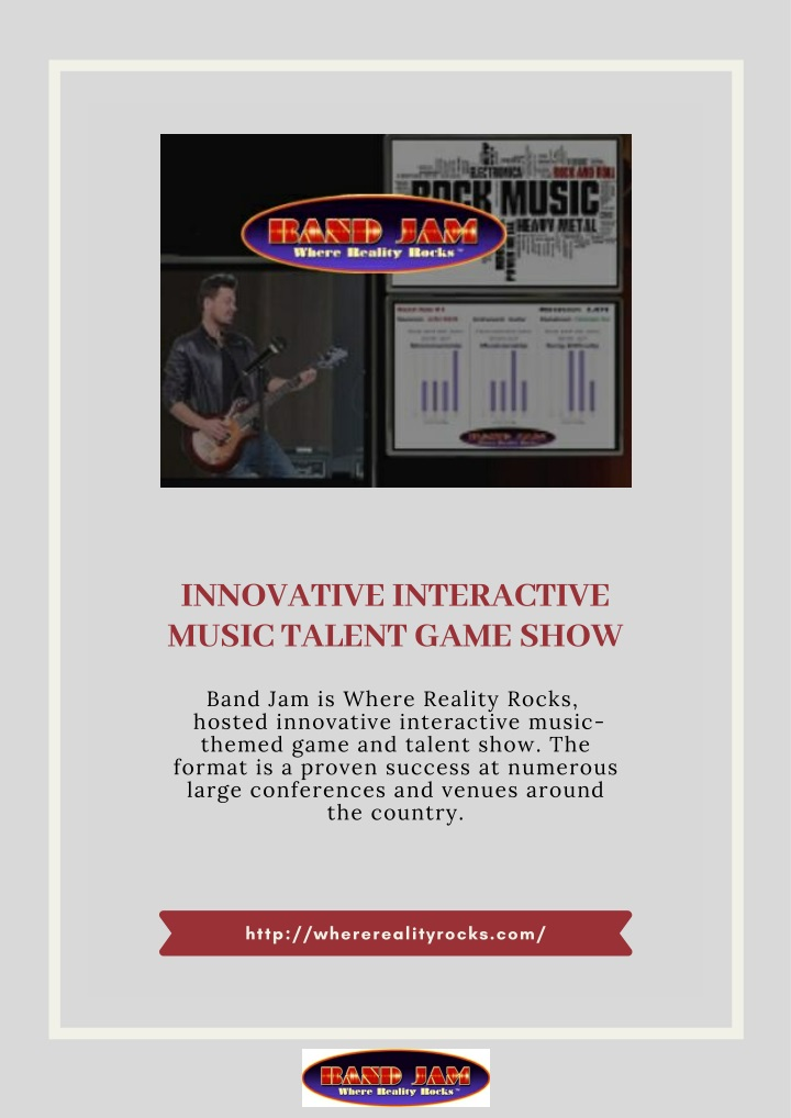 innovative interactive music talent game show n.