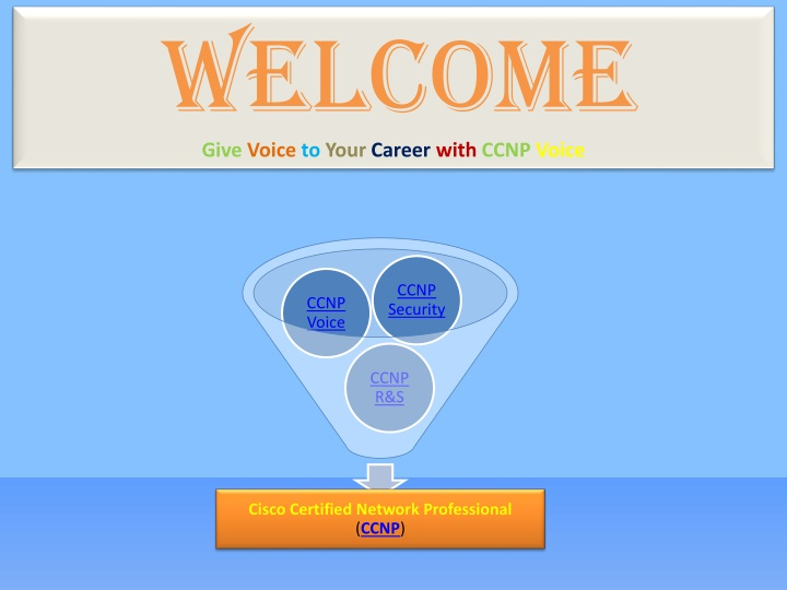 welcome give voice to your career with ccnp voice n.