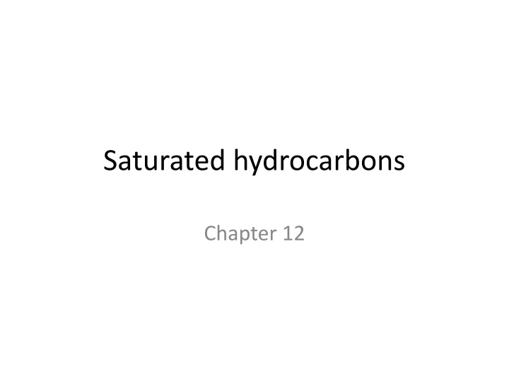 saturated hydrocarbons n.