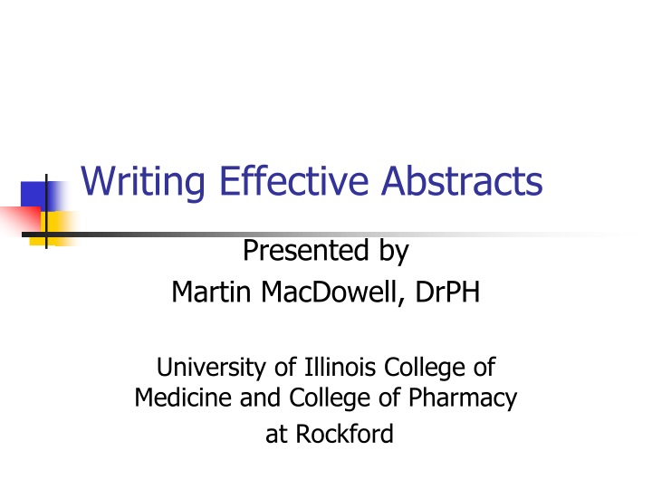 writing effective abstracts n.