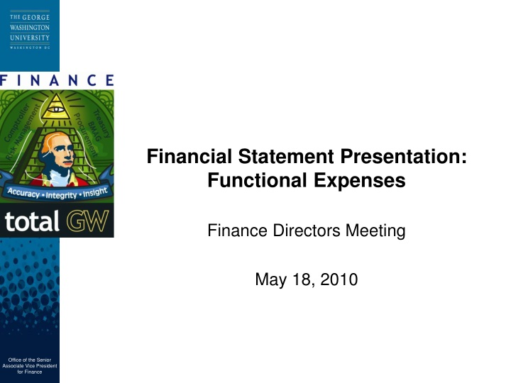 financial statement presentation functional expenses n.