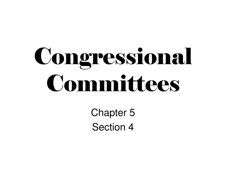 congressional committees n.