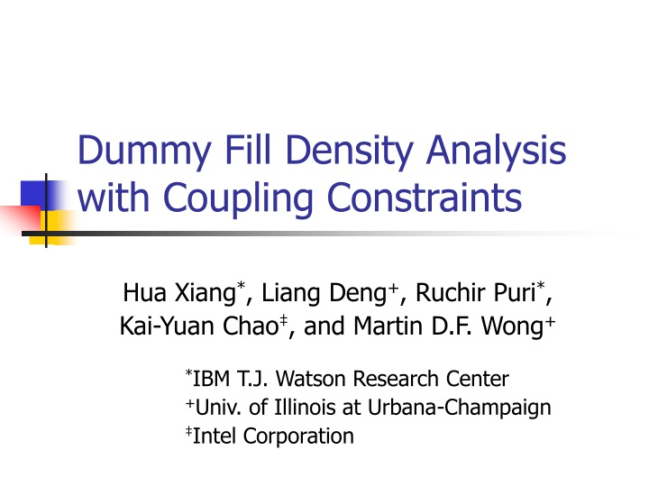 dummy fill density analysis with coupling constraints n.
