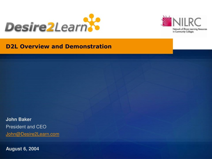 d2l overview and demonstration n.
