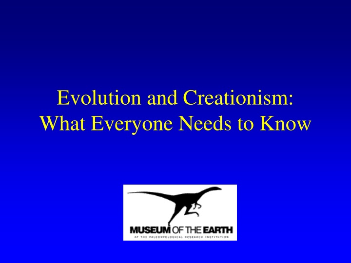 evolution and creationism what everyone needs to know n.