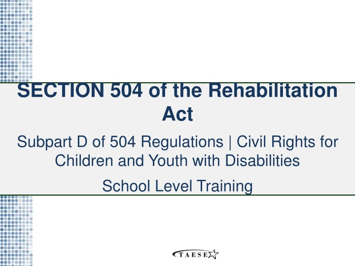 section 504 of the rehabilitation act subpart n.