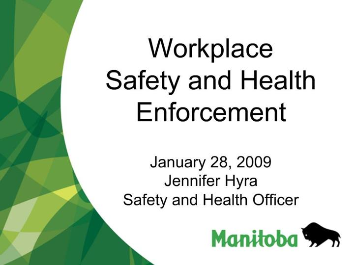 PPT - Workplace Safety and Health Enforcement January 28 ...