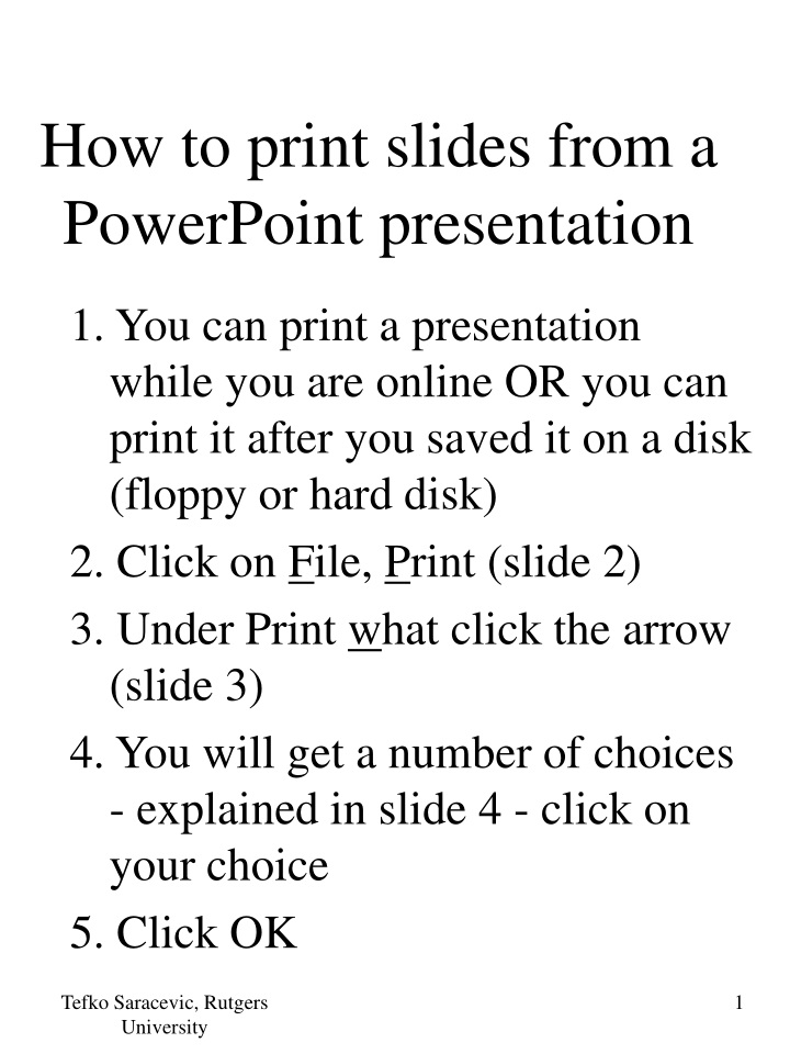 how to print slides from a powerpoint presentation n.
