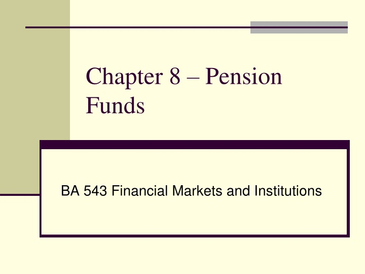 chapter 8 pension funds n.