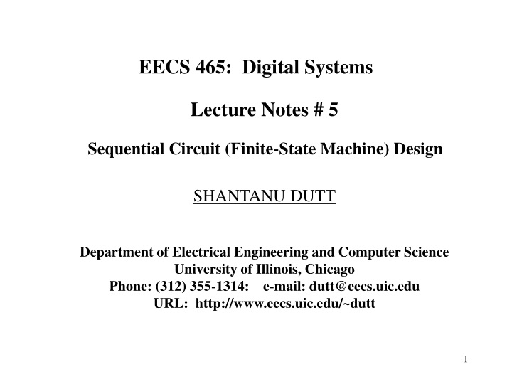 Ppt Eecs 465 Digital Systems Powerpoint Presentation Free Download Id 9150436