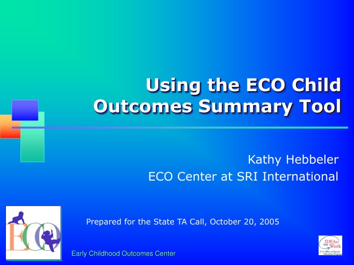 using the eco child outcomes summary tool n.