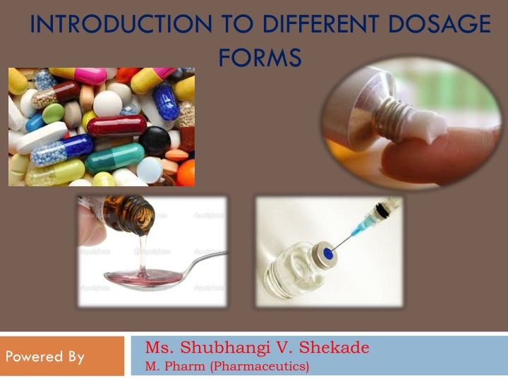 introduction to different dosage forms n.