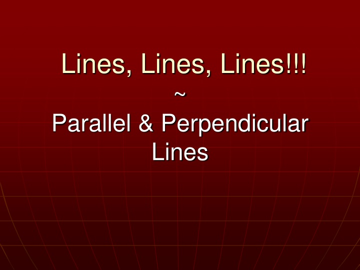 lines lines lines parallel perpendicular lines n.