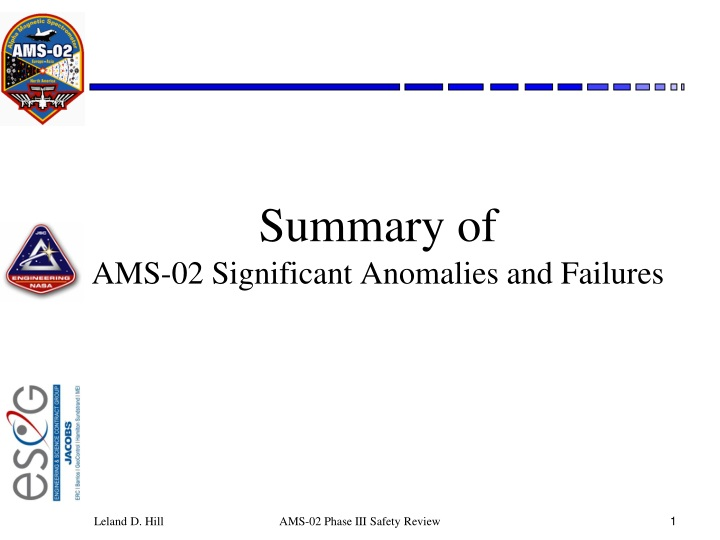 summary of ams 02 significant anomalies and failures n.