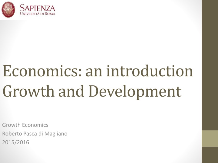 economics an introduction growth and development n.