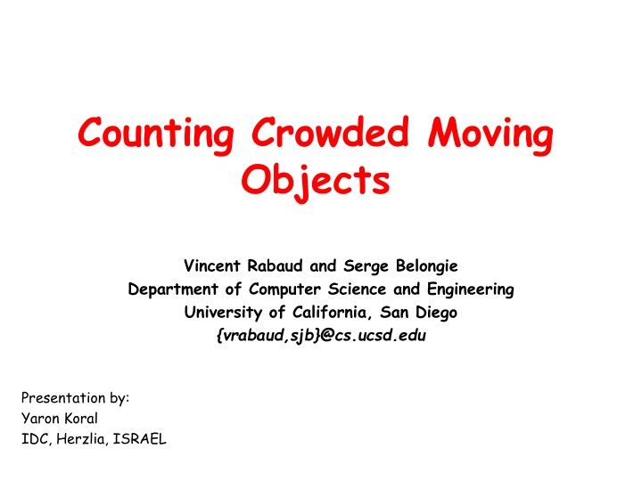 counting crowded moving objects n.