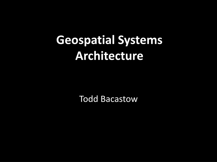 geospatial systems architecture n.