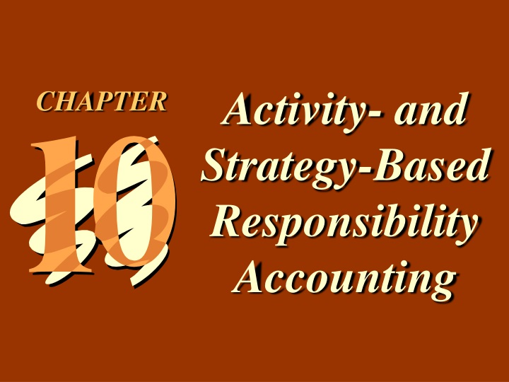 activity and strategy based responsibility n.