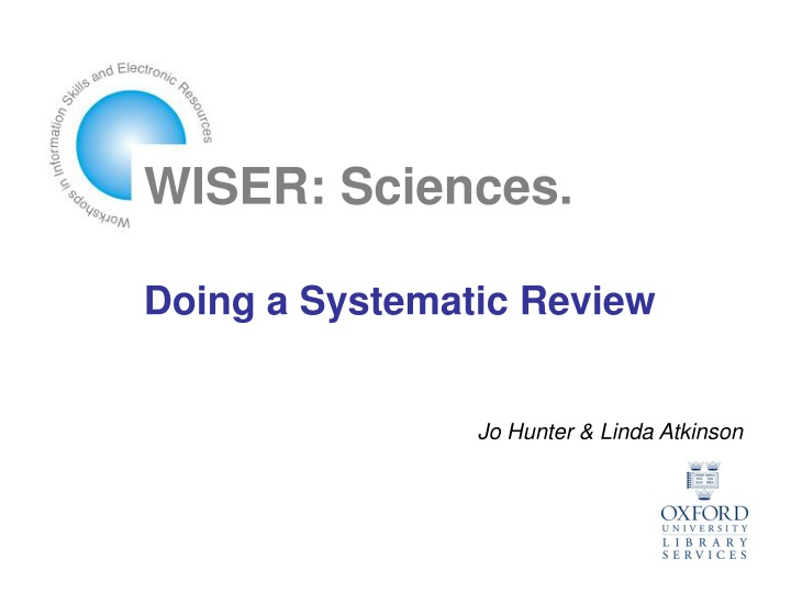 wiser sciences doing a systematic review n.