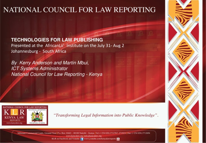 technologies for law publishing presented n.