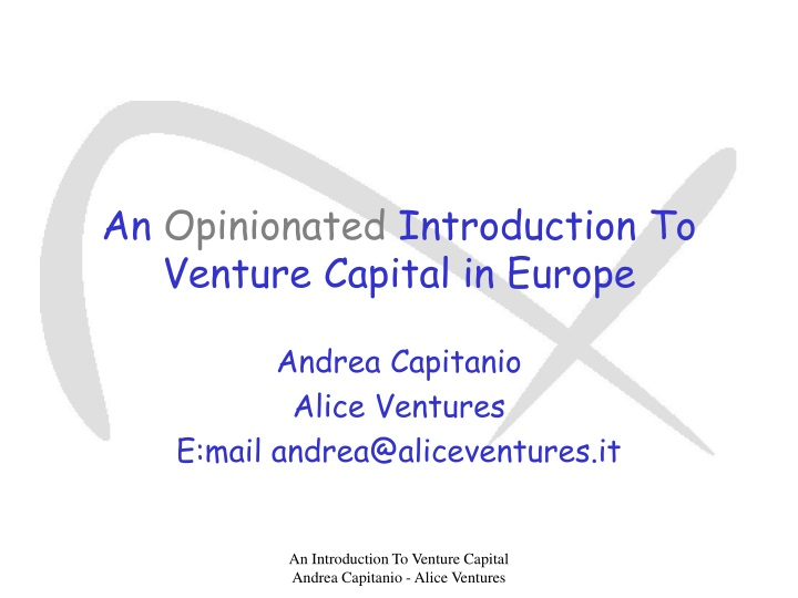 an opinionated introduction to venture capital in europe n.