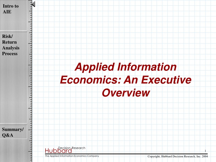 applied information economics an executive n.
