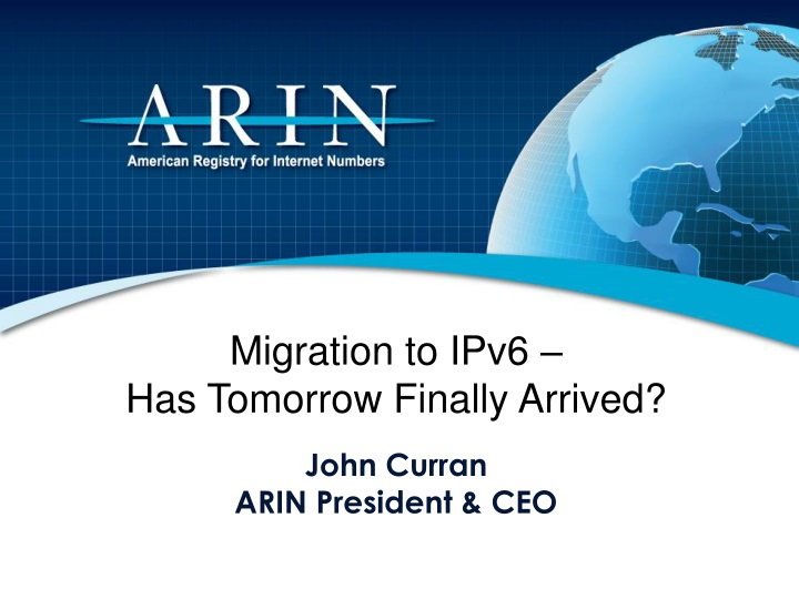 migration to ipv6 has tomorrow finally arrived n.