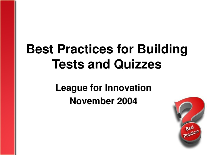 best practices for building tests and quizzes n.