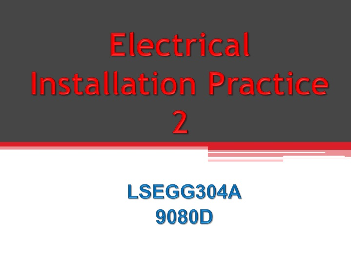 electrical installation practice 2 n.