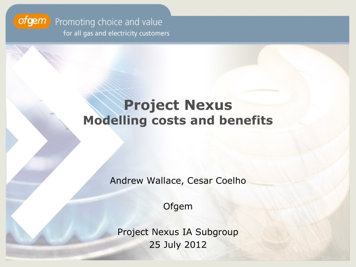 project nexus modelling costs and benefits n.
